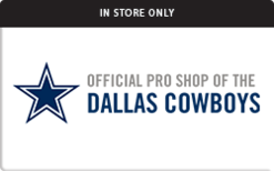Buy Dallas Cowboys Pro Shop (In Store Only) Gift Card