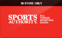 Sell Sports Authority (In Store Only) Gift Card