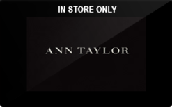 Ann Taylor (In Store Only) Gift Card - Check Your Balance Online ...