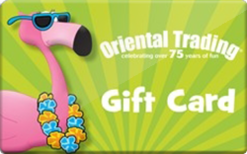 Oriental trading gift card