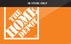 Sell The Home Depot® (In Store Only) Gift Card