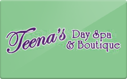 Sell Teena's Day Spa Gift Card