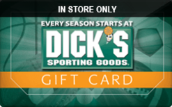 Sell Dick's Sporting Goods (In Store Only) Gift Cards | Raise