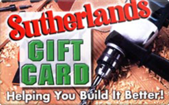 Sell Sutherlands Gift Card