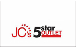 Buy Jc's 5 Star Outlet Gift Card