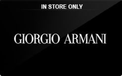 Giorgio Armani (In Store Only) Gift Card - Check Your Balance ...