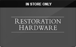 Buy Restoration Hardware (In Store Only) Gift Card