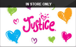 Sell Justice (In Store Only) Gift Card