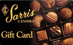 Sarris candies gift card