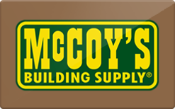 Sell McCoy's Building Supply Gift Card