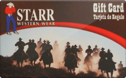 Sell Starr Western Wear Gift Card