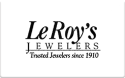 Sell LeRoy's Jewelers Gift Card