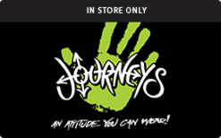 Buy Journeys (In Store Only) Gift Card