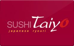Sell Sushi Taiyo Gift Card