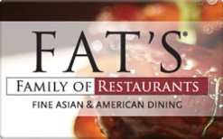 Sell Fat's Family of Restaurants Gift Card