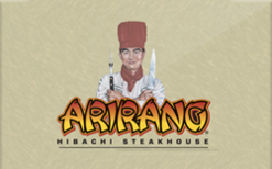 Sell Arirang Hibachi Steakhouse Gift Card