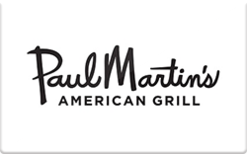 Sell Paul Martin's American Grill Gift Card