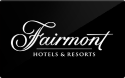 Fairmont hotels and resorts gift card