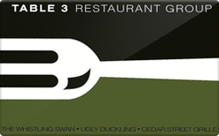 Buy Table 3 Restaurants Gift Card
