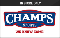 Buy Champs (In Store Only) Gift Card