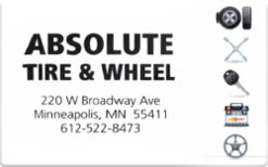 Sell Absolute Tire & Wheel Gift Card