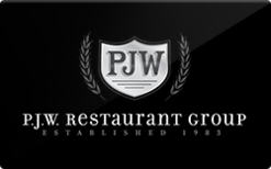Sell P.J.W. Restaurant Group Gift Card
