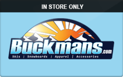 Sell Buckmans (In Store Only) Gift Card