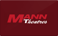 Buy Mann Theatres Gift Card