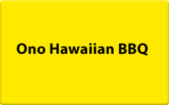 Sell Ono Hawaiian BBQ Gift Card