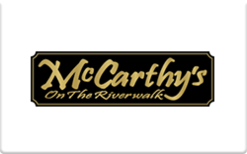 Sell McCarthy's on the Riverwalk Gift Card