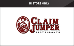 Buy Claim Jumper Restaurants (In Store Only) Gift Card