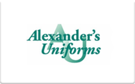 Buy Alexander's Uniforms Gift Card