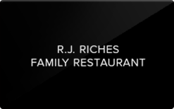 Sell R J Riches Family Restaurant Gift Card
