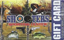Sell Shooters Sporting Center Gift Card