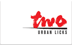 Sell TWO urban licks Gift Card