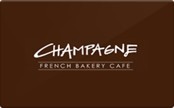 Sell Champagne French Bakery Cafe Gift Card