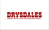 Buy Drysdales Western Wear Gift Card