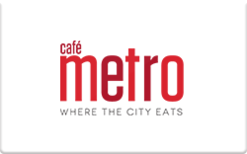 Sell Cafe Metro Gift Card