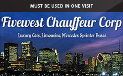 Buy Fivewest Chauffeur Gift Card