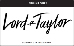 Buy Lord & Taylor (Online Only) Gift Card