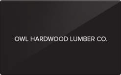 Sell Owl Hardwood Lumber Gift Card