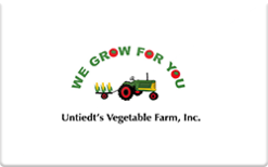 Sell Untiedt's Vegetable Farm Inc. Gift Card