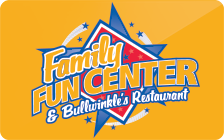 Sell Family Fun Center & Bullwinkle's Restaurant Gift Card