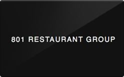 Sell 801 Restaurant Group Gift Card