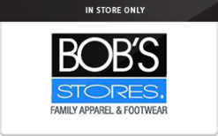 Sell Bob's Stores (In Store Only) Gift Card