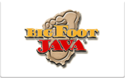 Sell BigFoot Java Drive Thru Coffee Gift Card