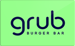 Sell Grub Burger Bar Gift Card