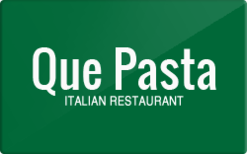Sell Que Pasta Gift Card