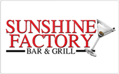 Buy The Sunshine Factory Bar and Grill Gift Card