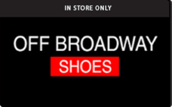 Sell Off Broadway Shoes (In Store Only) Gift Card